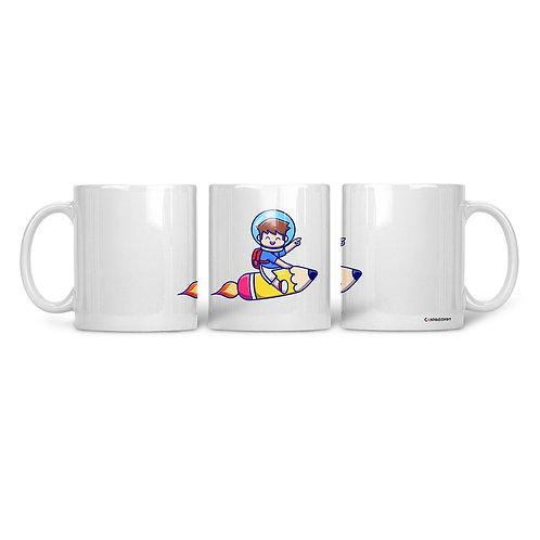 Ceramic Mug Flying Kid