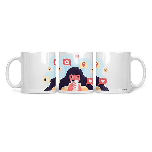 Ceramic Mug Social Media