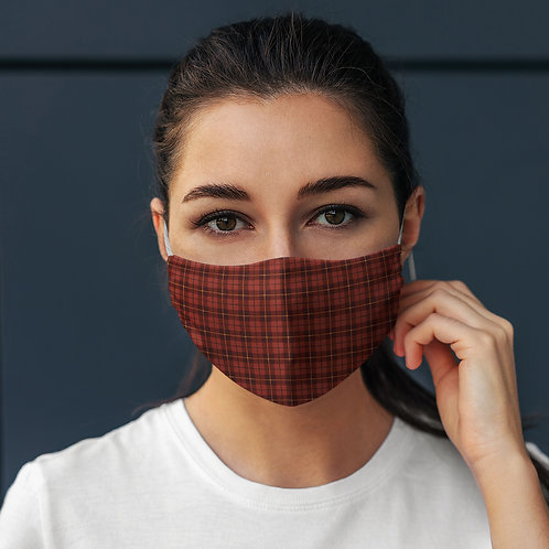 Face Mask Red Tartan