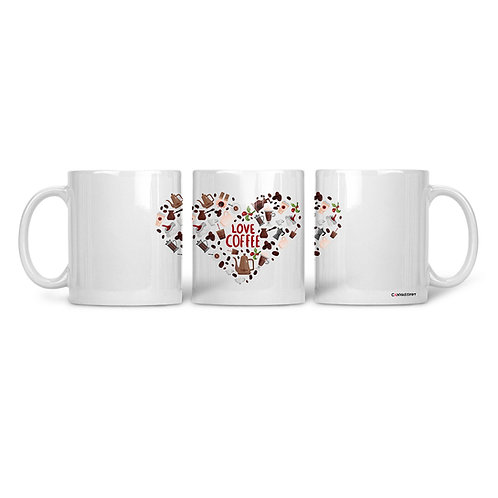 Ceramic Mug Love Coffee