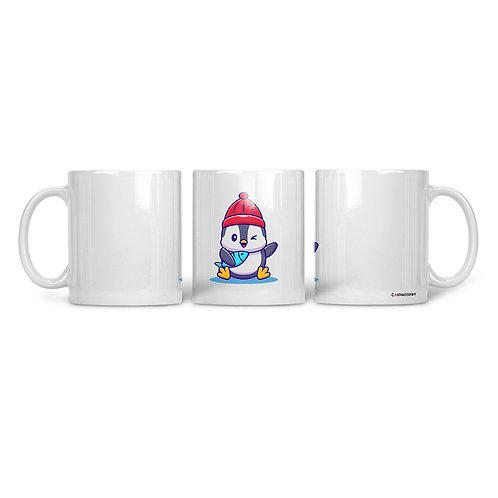 Ceramic Mug Penguin Waving