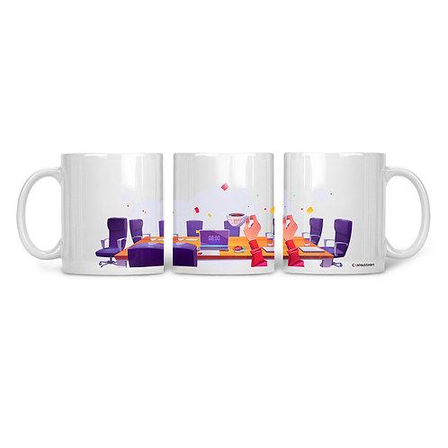 Ceramic Mug Workplace Coffee View