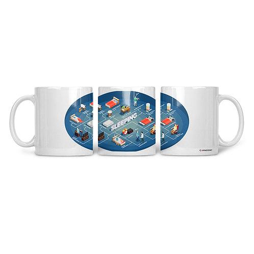 Ceramic Mug Sleeping isometric