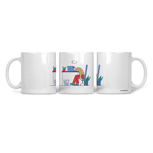 Ceramic Mug Tired