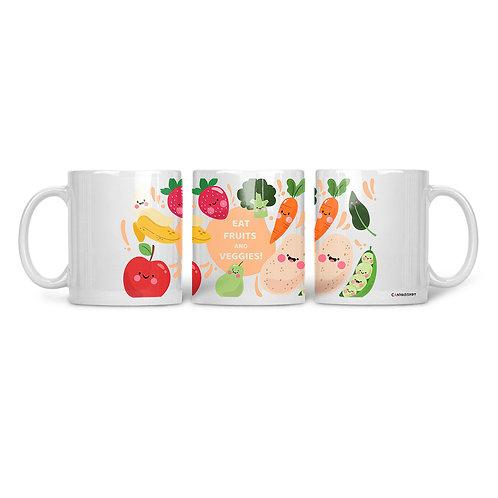 Ceramic Mug Eat Fruits And Veggies