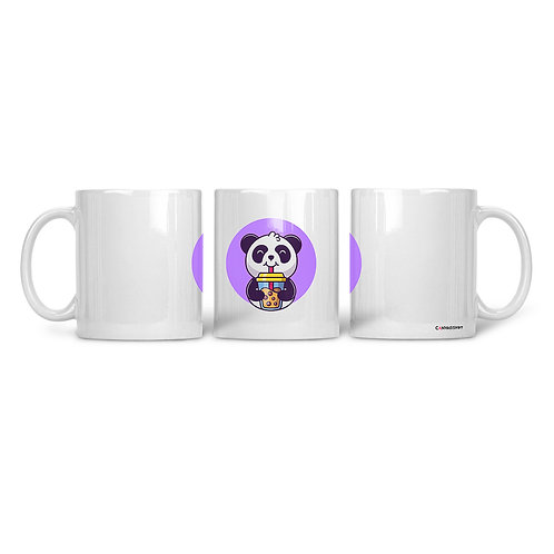 Ceramic Mug Drinking Panda
