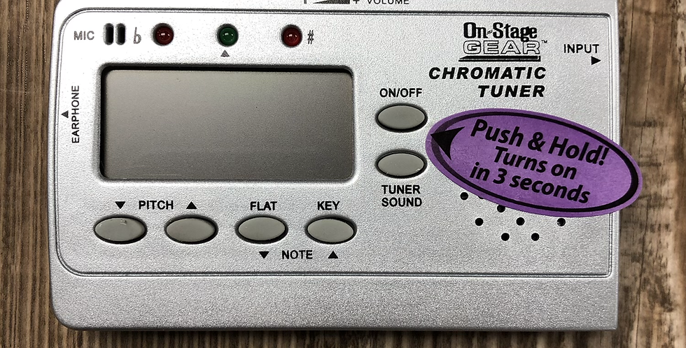 On Stage Chromatic Plug-In Tuner