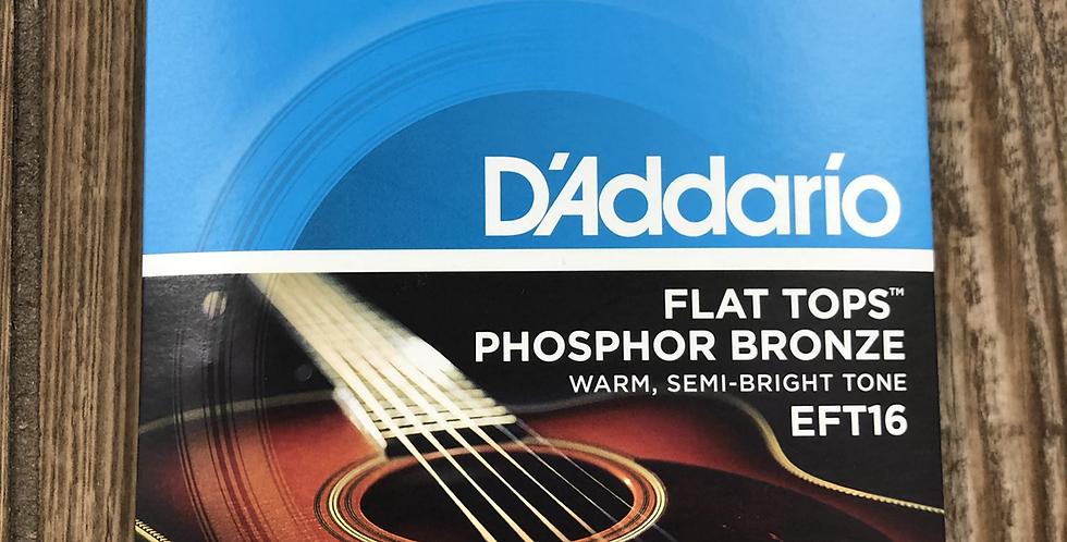 D'addario Flat Top Acoustic Guitar Strings