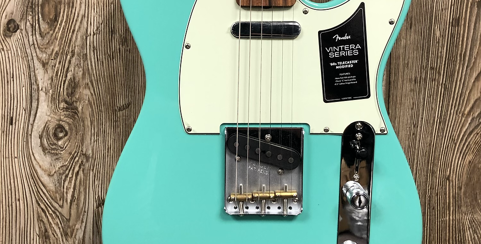 Fender Vintera Tele, Seafoam Green w/bag