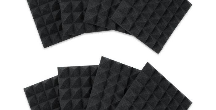 Gator Acoustic Foam Pyramid Panel, 8 Pack