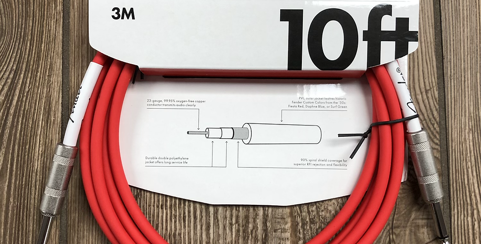 Fender 10' Instrument Cable, Red