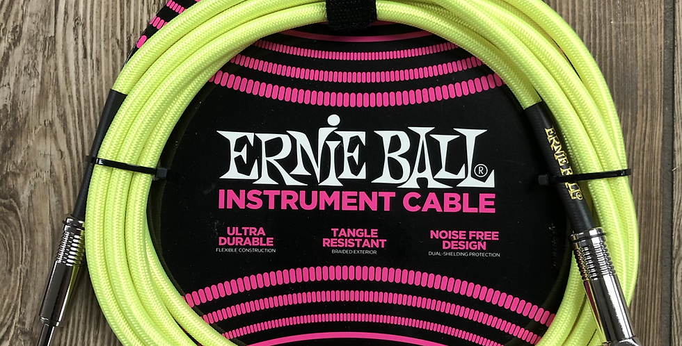 Ernie Ball Yellow Neon 10' Instrument Cable