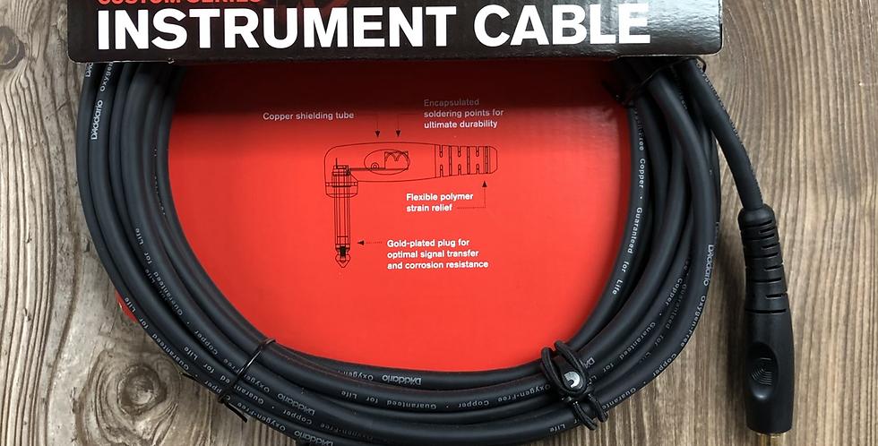 D'addario Custom Series 20' Instrument Cable