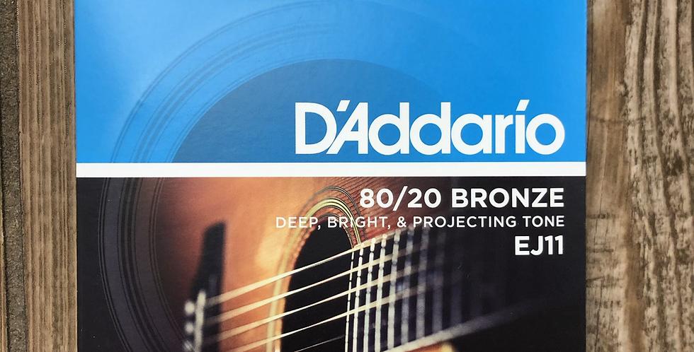 D'addario 80/20 Acoustic Guitar Strings