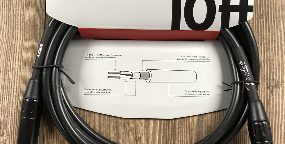 Fender Mic Cable, 10'