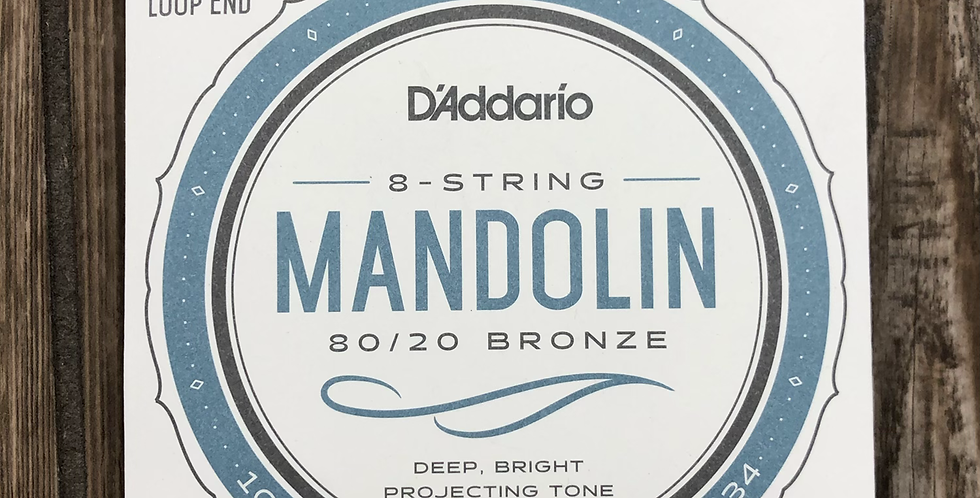 D'addario 80/20 Bronze Mandolin Strings