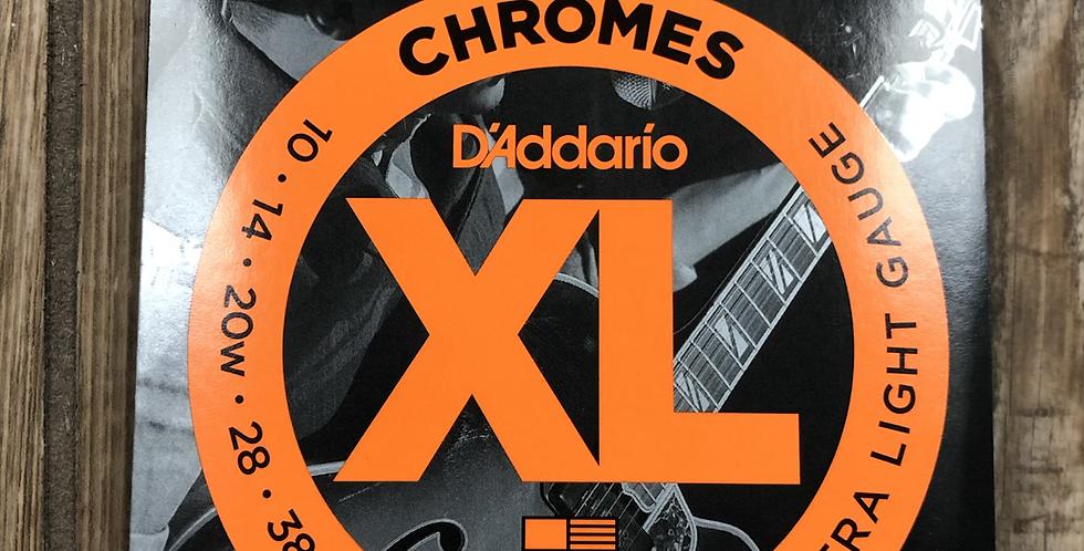 D'addario Flat Wound Electric Guitar Strings
