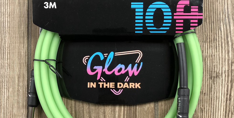 Fender Glow in the Dark Instrument Cable 10'