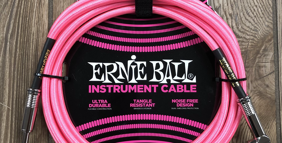 Ernie Ball Pink Neon 10' Instrument Cable