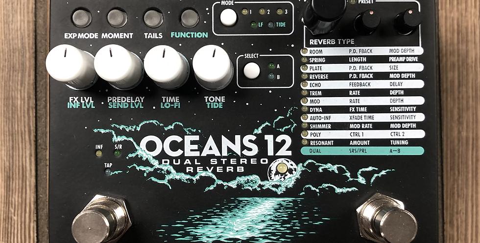 EHX Oceans 12 Reverb w/adapter