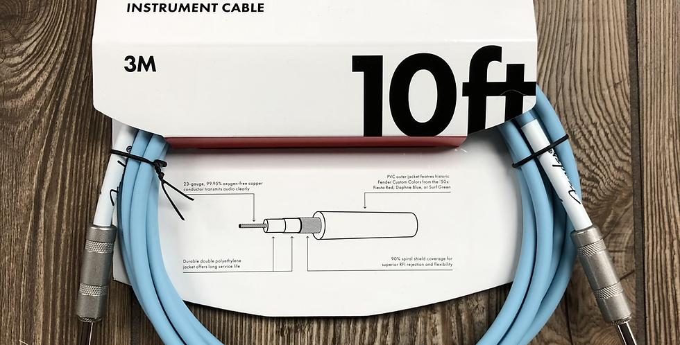 Fender 10' Instrument Cable, Daphne Blue