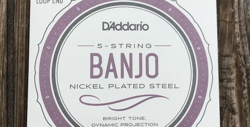 D'addario 5-String Nickel Wound Banjo Strings