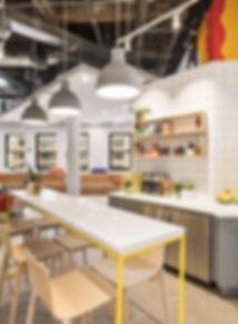 Cocina moderna en Espacio de trabajo