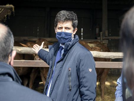 Julien Denormandie, le ministre en mission séduction en Charente
