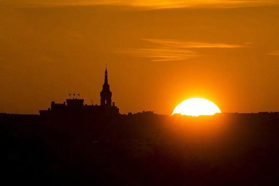 Sunset sur le plateau