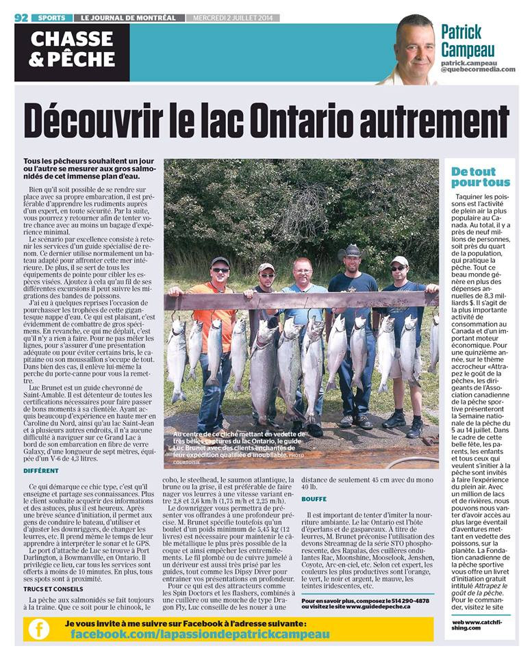 Guide de pêche Luc Brunet