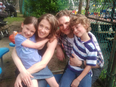 """Ella's """"The Leftovers"""" family; Carrie Coon, Sebastian Arcelus, and Anthony Cieslak"""