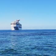 Cruise ship in the Carribean