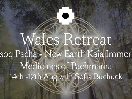 MOSOQ PACHA - NEW EARTH KAIA IMMERSION. Medicines of Pachamama. 14th-17th Aug. 2020. Wales Retreat.