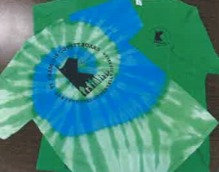 Green & Blue Tie-Dye Short Sleeve Tee Shirt