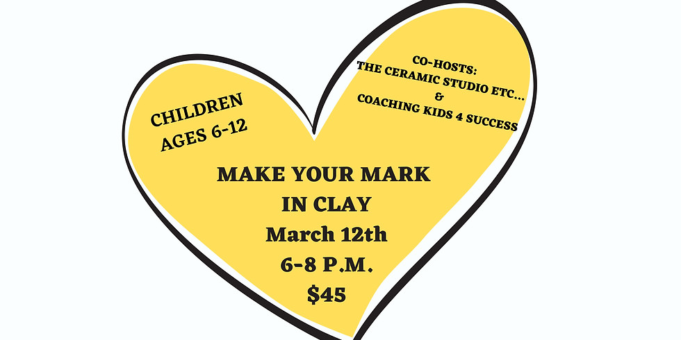 Make Your Mark In Clay! Kids Night Out!