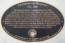 Chamberlin Building plaque