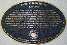 Lake Alfred Hotel plaque