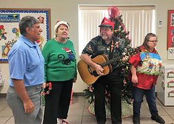 Singers at Christmas party