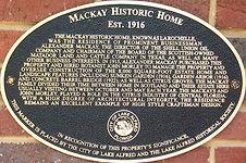 Mackay House plaque