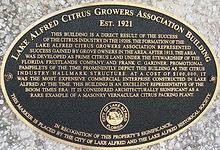 Citrus Growers Packing House plaque