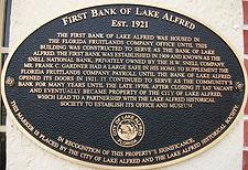 Bronze plaque First Bank of LA