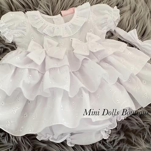 White Tiered Dress Set