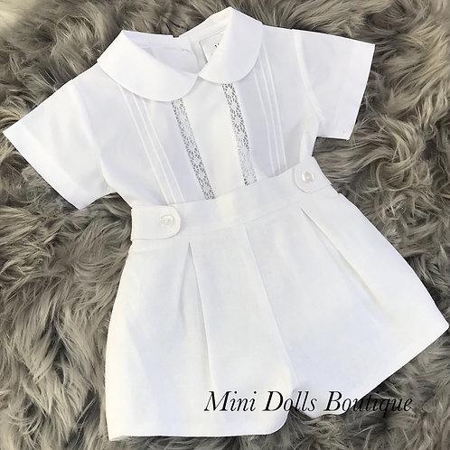 White Shirt & Shorts Set