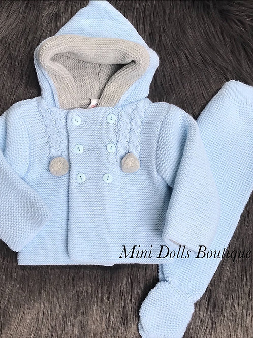 Blue Hooded 2 Piece