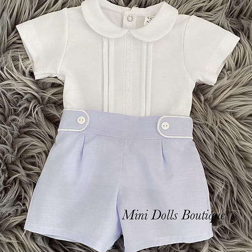 Baby Blue Shorts Set