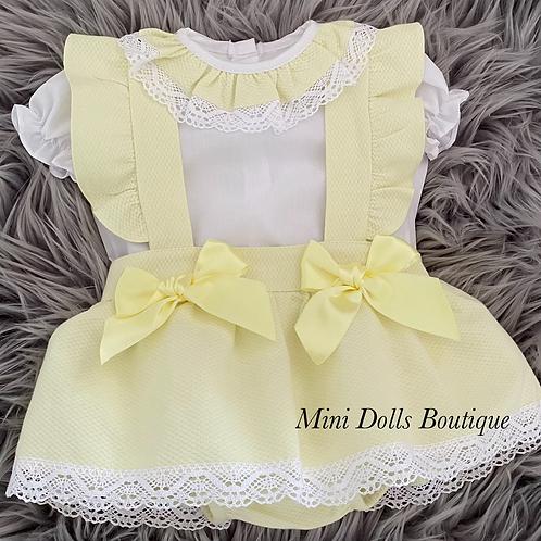 Lemon Double Bow Skirt Set