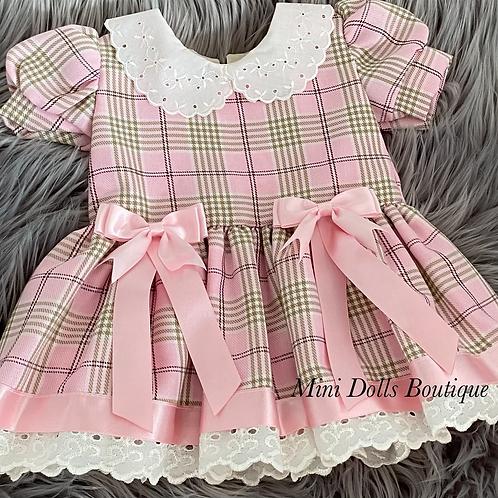 Pink Tartan Bow Dress