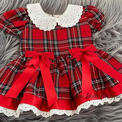 Red Tartan Bow Dress
