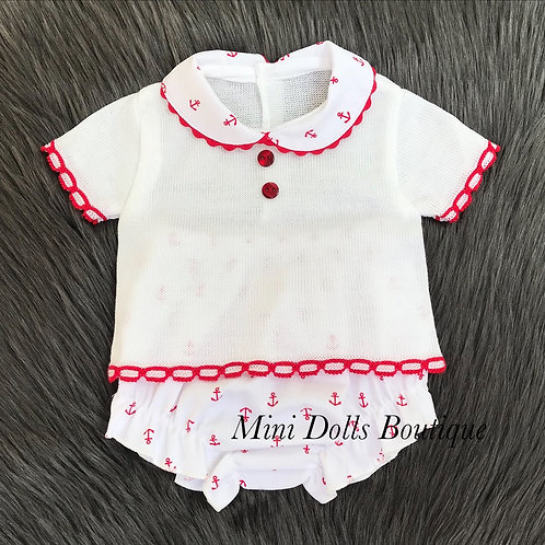 Red Anchor 2 Piece