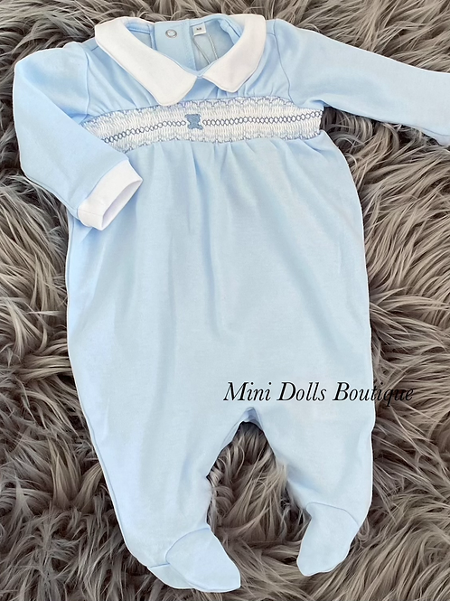 Blue Teddy Babygrow